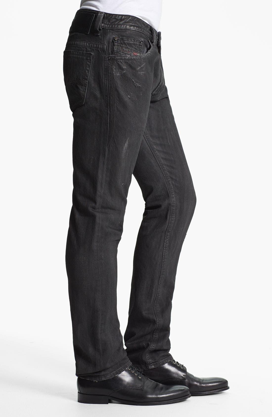 Alternate Image 3  - DIESEL® 'Thavar' Slim Straight Leg Jeans