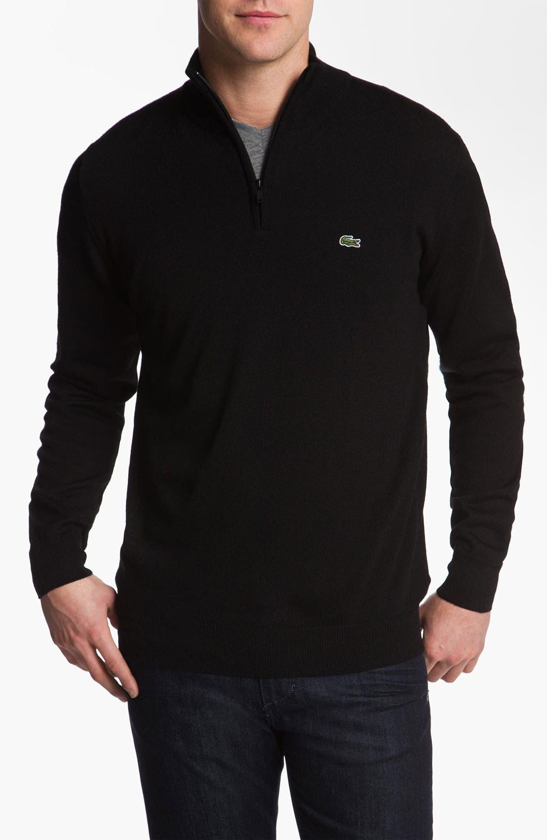Main Image - Lacoste Lambswool Mock Neck Sweater