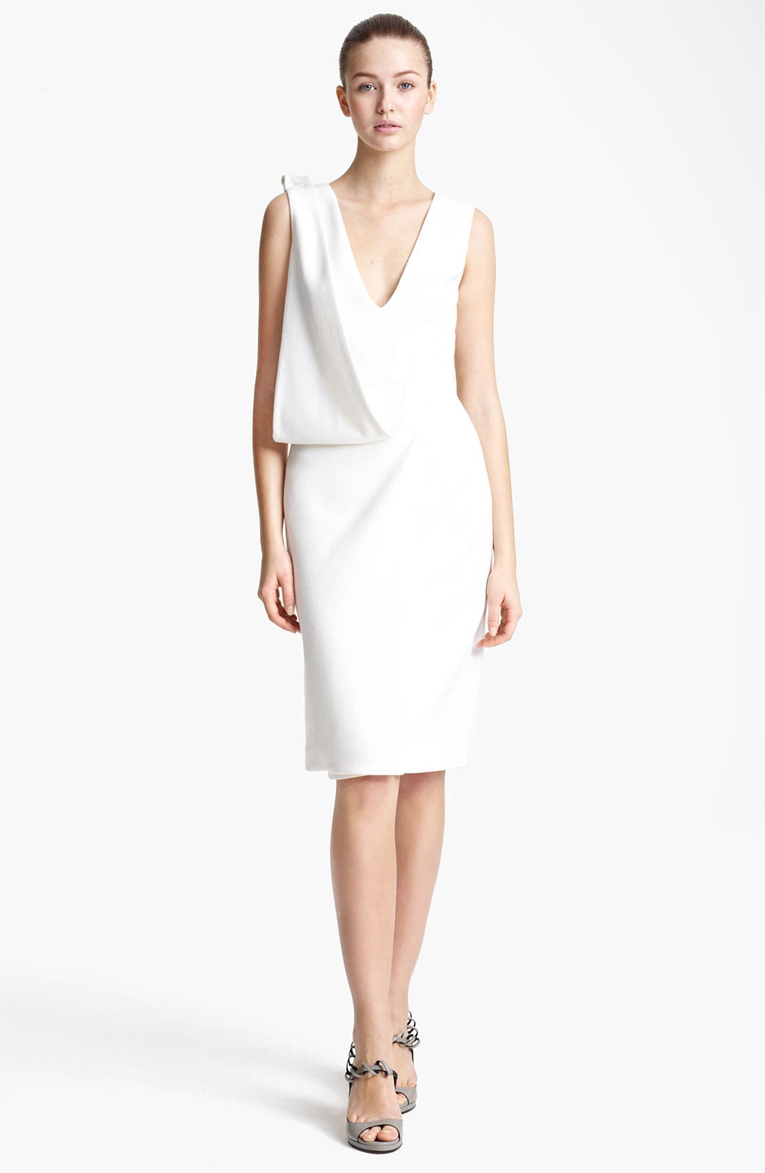 Main Image - Christopher Kane Asymmetrical Drape Crepe Dress