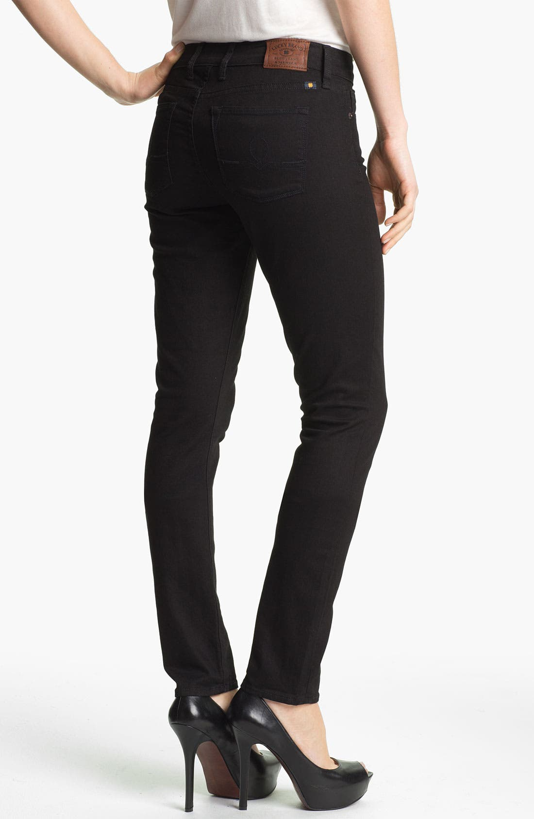 Alternate Image 2  - Lucky Brand 'Sofia' Skinny Jeans (Black) (Online Exclusive)