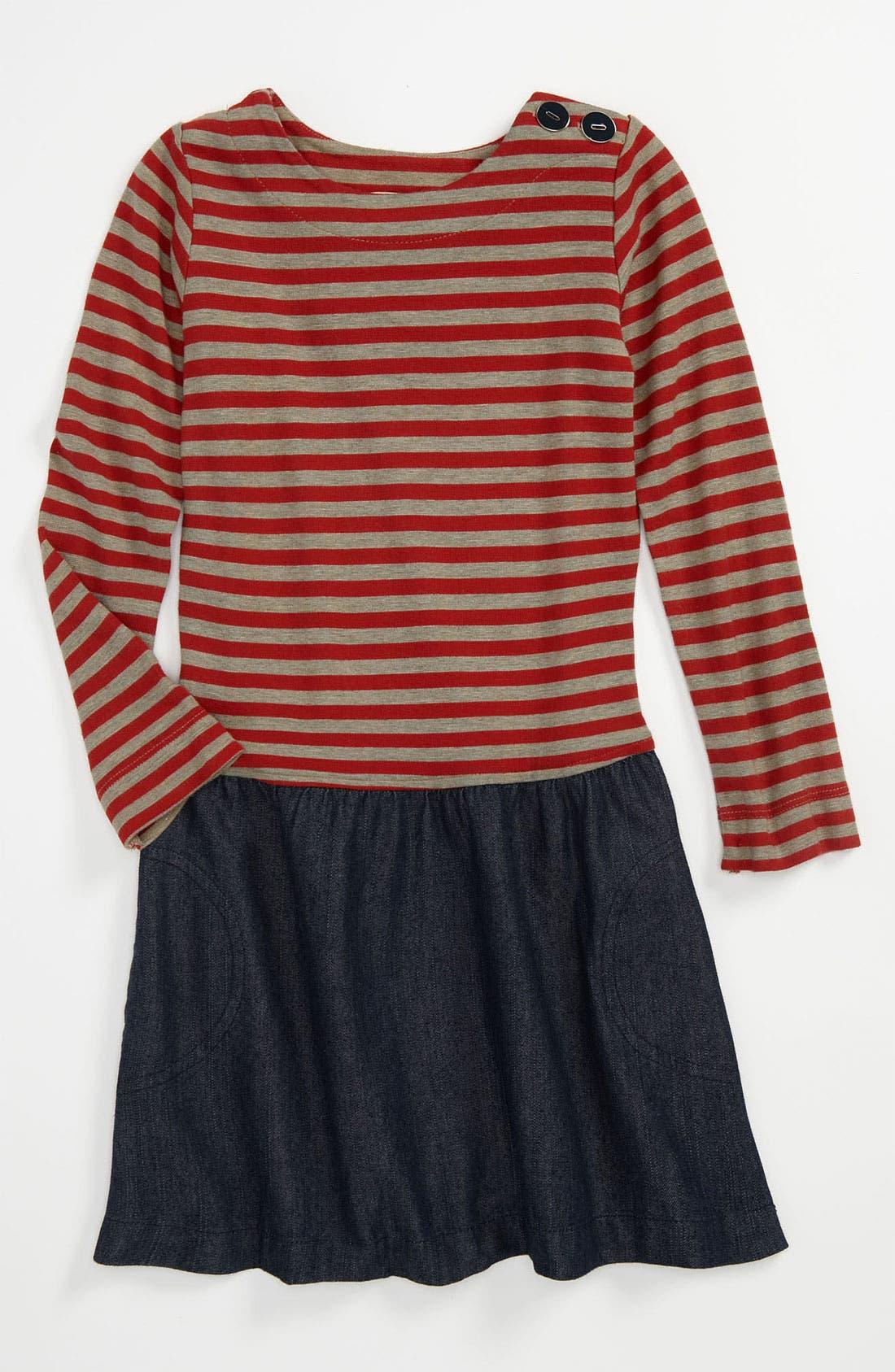 Main Image - Anthem of the Ants 'Museum' Stripe Dress (Little Girls & Big Girls)