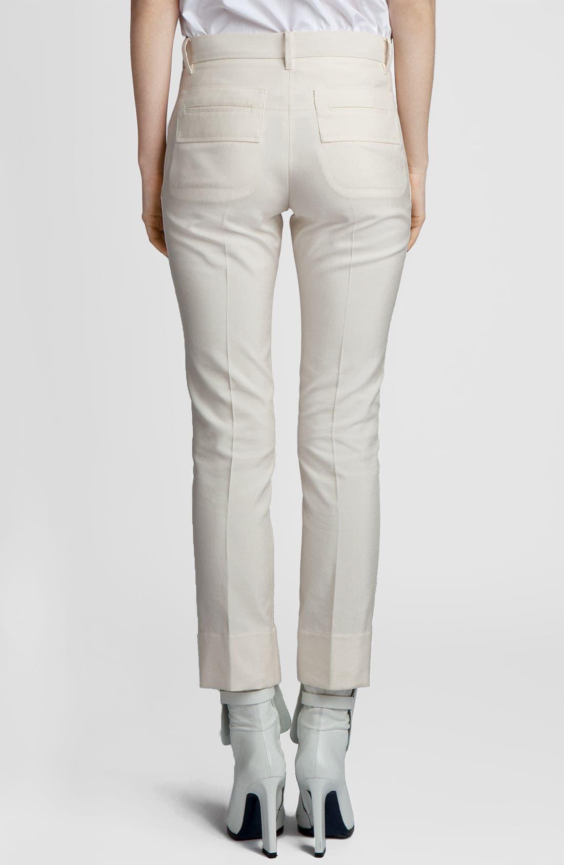 Alternate Image 2  - Jil Sander 'Niccolo' Slim Cotton & Silk Pants