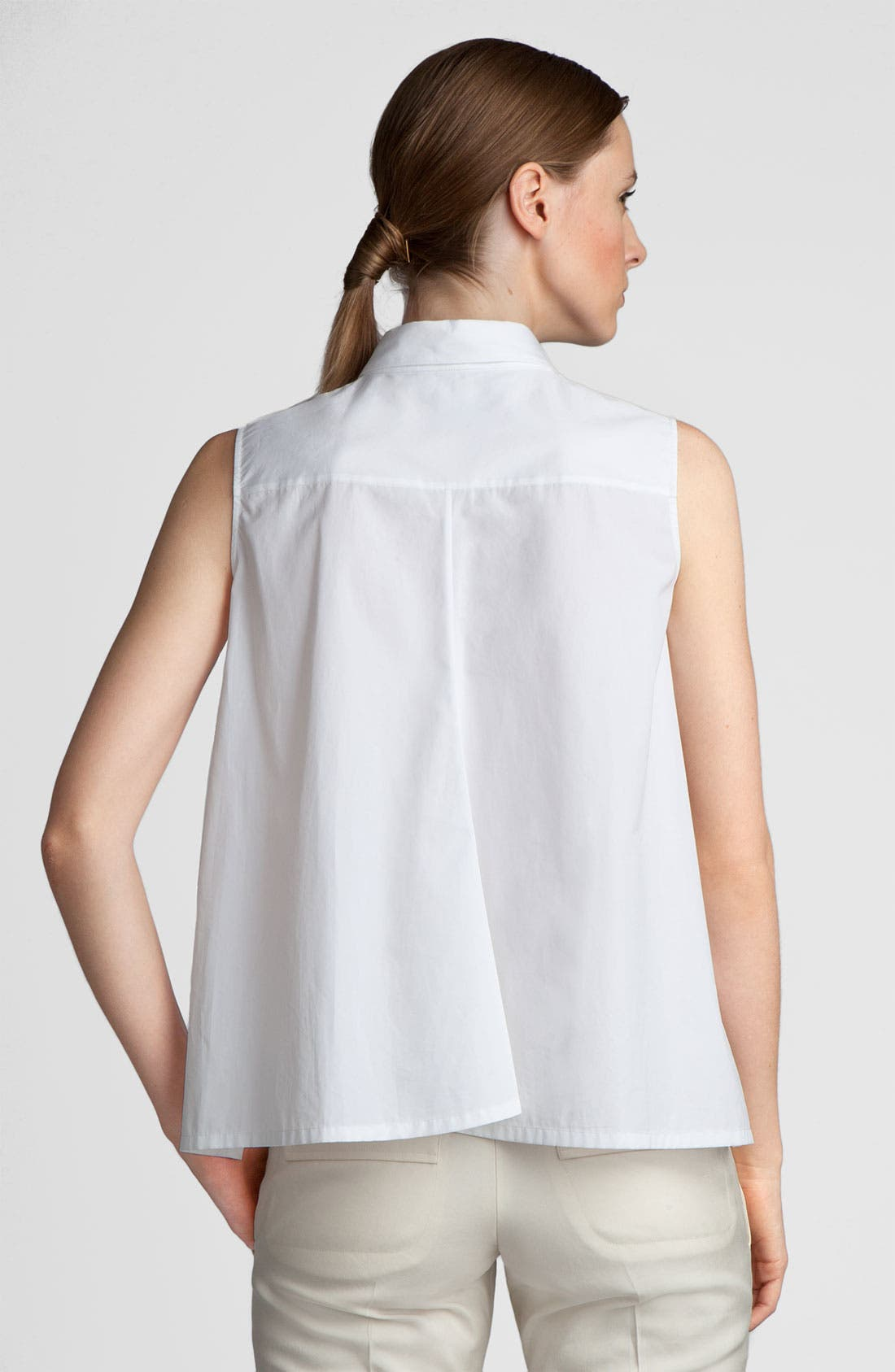 Alternate Image 2  - Jil Sander Sleeveless Poplin Shirt