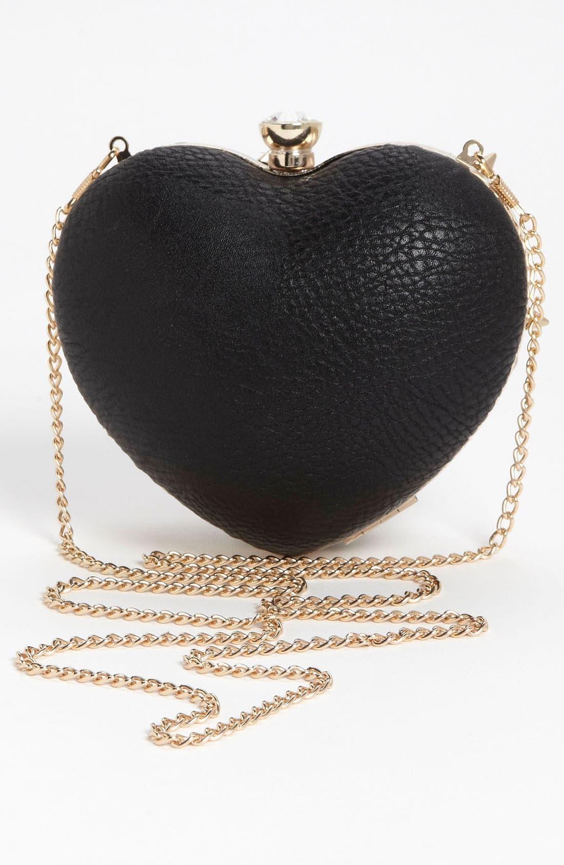 Alternate Image 4  - Street Level Studded Heart Frame Bag