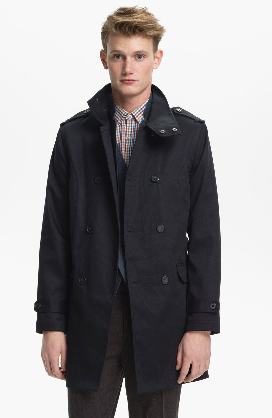 Main Image - Topman Double Breasted Mac Jacket