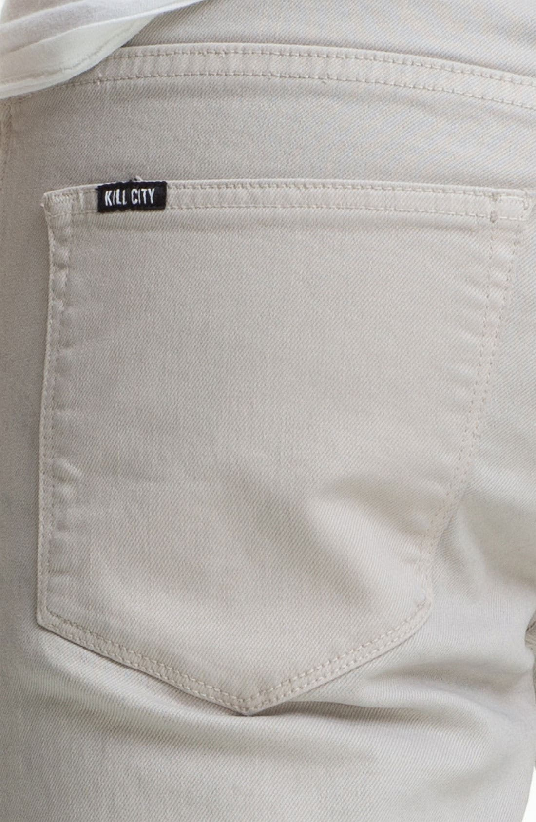 Alternate Image 4  - Kill City 'Wire' Slim Skinny Leg Jeans (White)