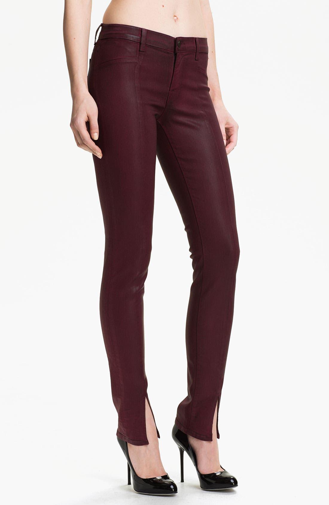 Alternate Image 1 Selected - J Brand Coated Stretch Skinny Jeans