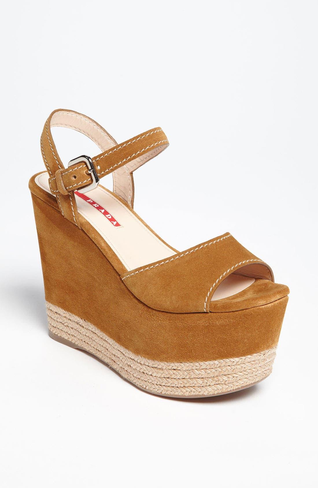 Alternate Image 1 Selected - Prada Wedge Sandal