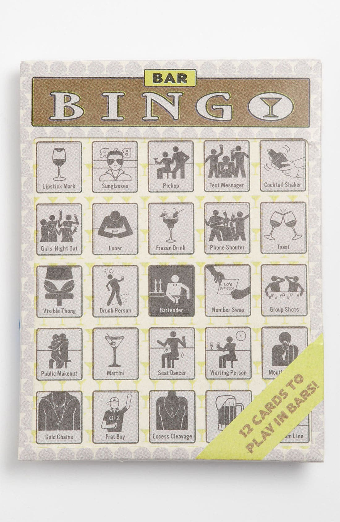 Alternate Image 1 Selected - Knock Knock Bar Bingo Cards