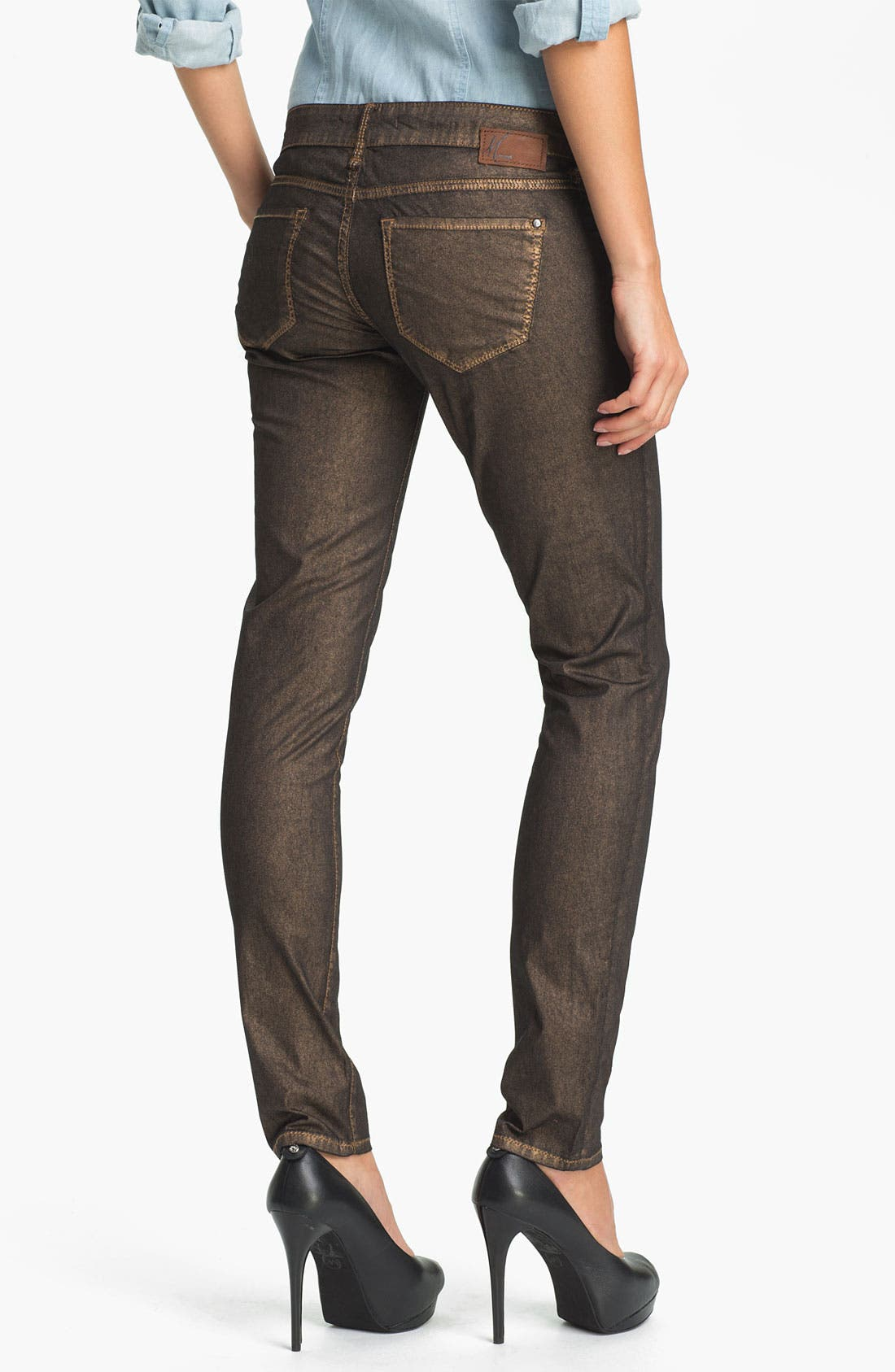 Alternate Image 2  - Mavi Jeans 'Serena' Metallic Coated Skinny Jeans (Online Exclusive)