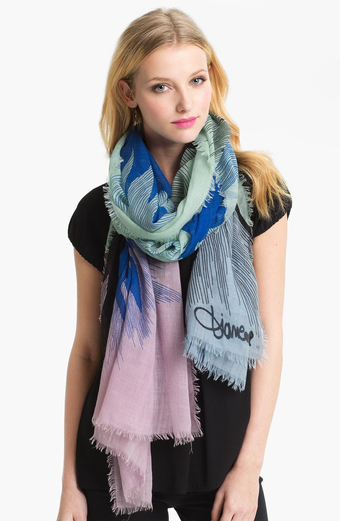 Main Image - Diane von Furstenberg 'Hanover' Wool & Silk Scarf