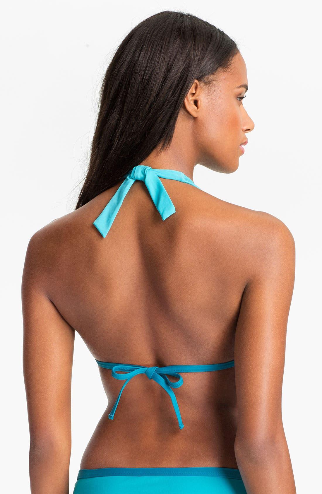 Alternate Image 2  - Eco Swim Slide Halter Bikini Top