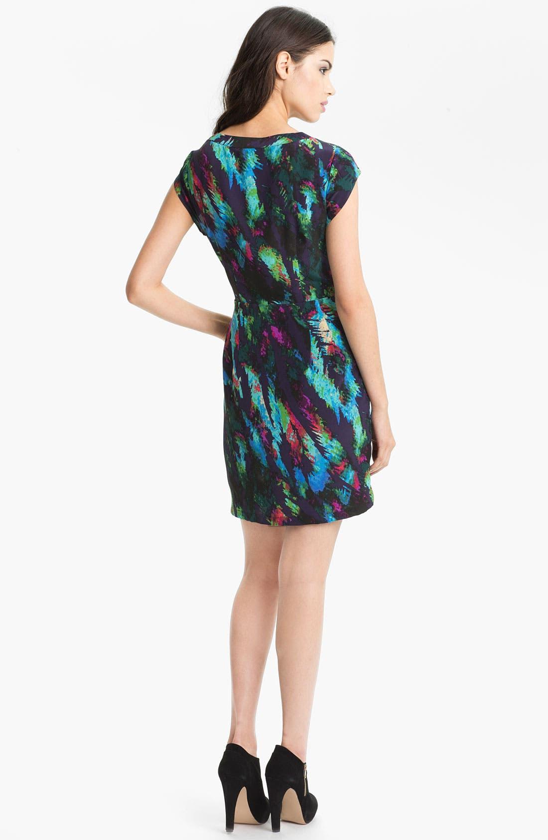 Alternate Image 2  - Presley Skye 'Hannah' Print Faux Wrap Silk Dress