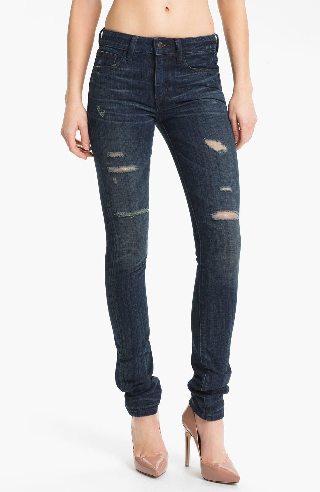 Alternate Image 1 Selected - Joe's 'The Skinny' Distressed Stretch Jeans (Macey)