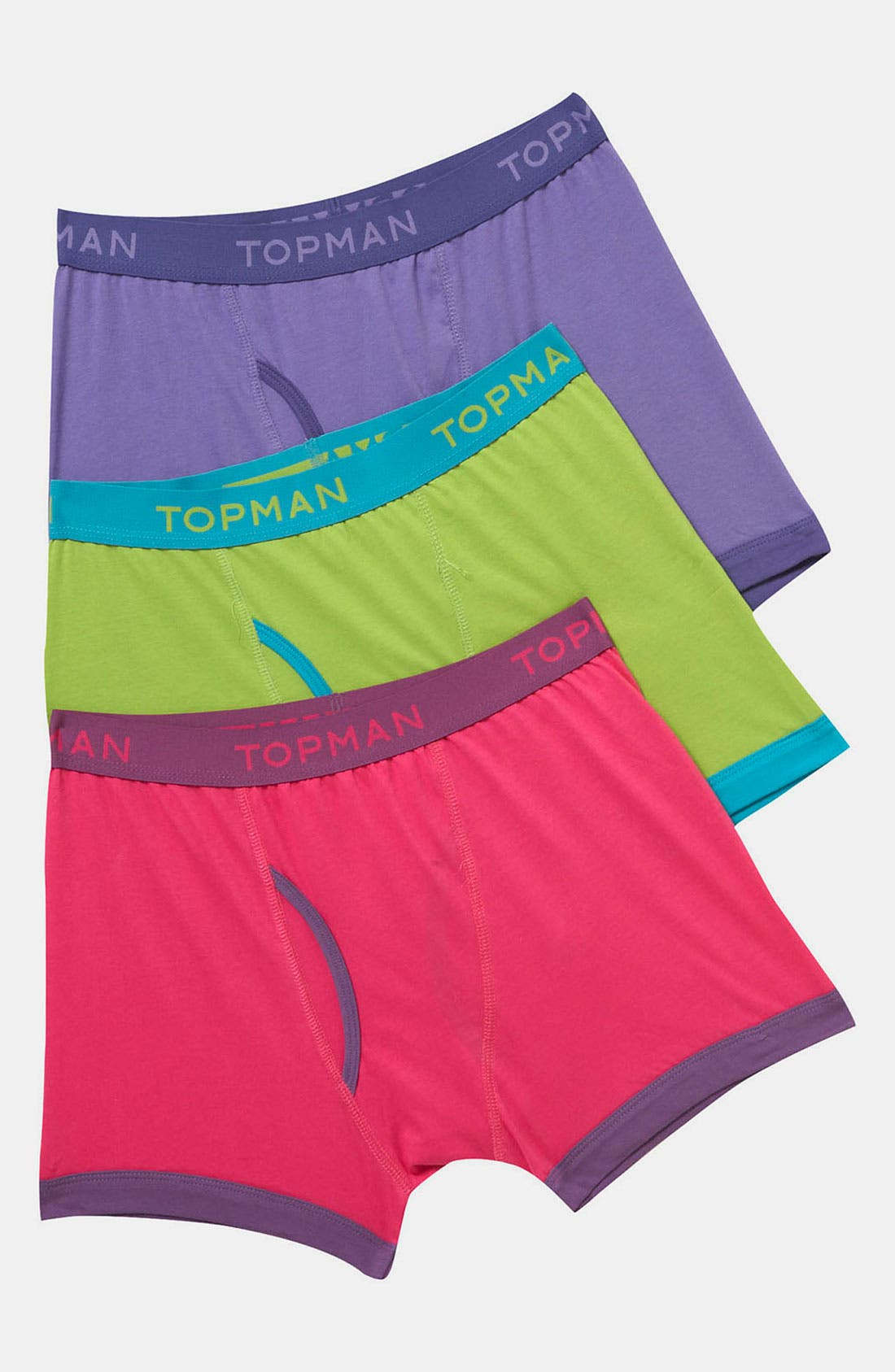 Alternate Image 1 Selected - Topman Bright Boxer Briefs (3-Pack)