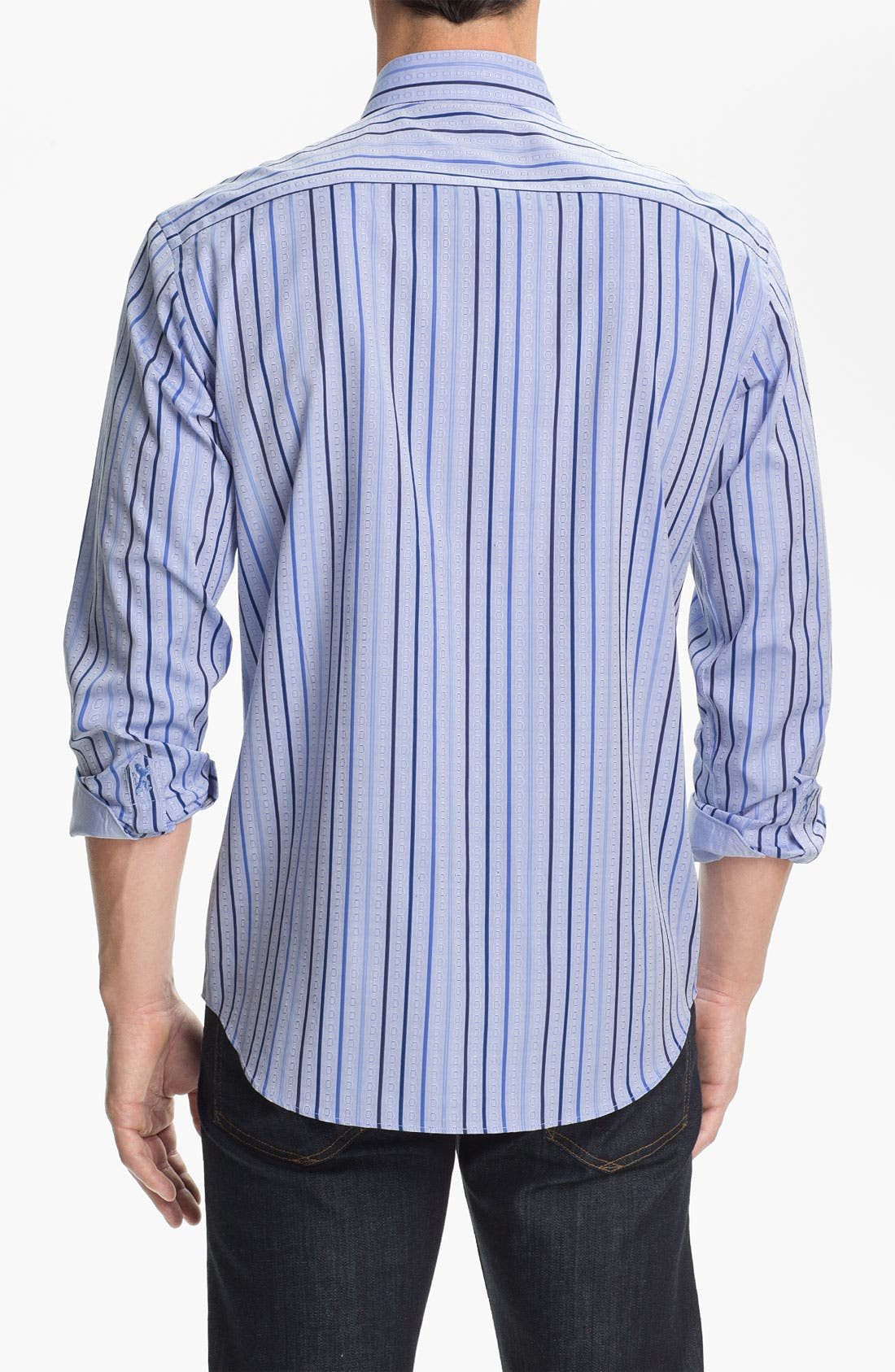 Alternate Image 3  - BUGATCHI Shaped Fit Sport Shirt