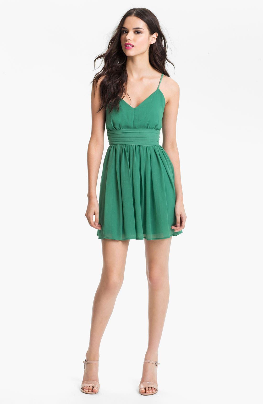 Alternate Image 1 Selected - BB Dakota 'Edie' Spaghetti Strap Chiffon Dress