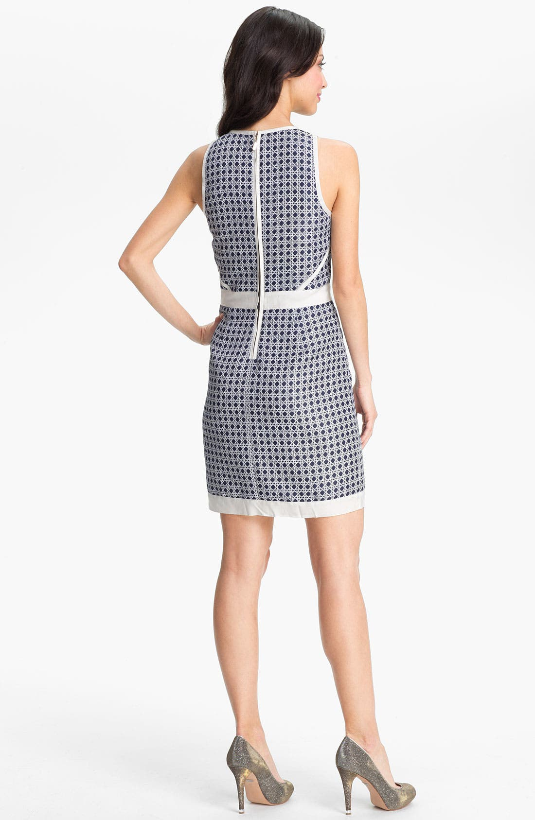 Alternate Image 2  - Laundry by Shelli Segal Embellished Jacquard Sheath Dress