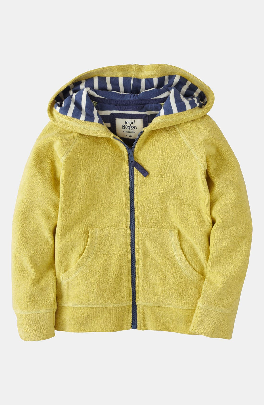 Main Image - Mini Boden 'Toweling' Hoodie (Toddler, Little Girls & Big Girls)
