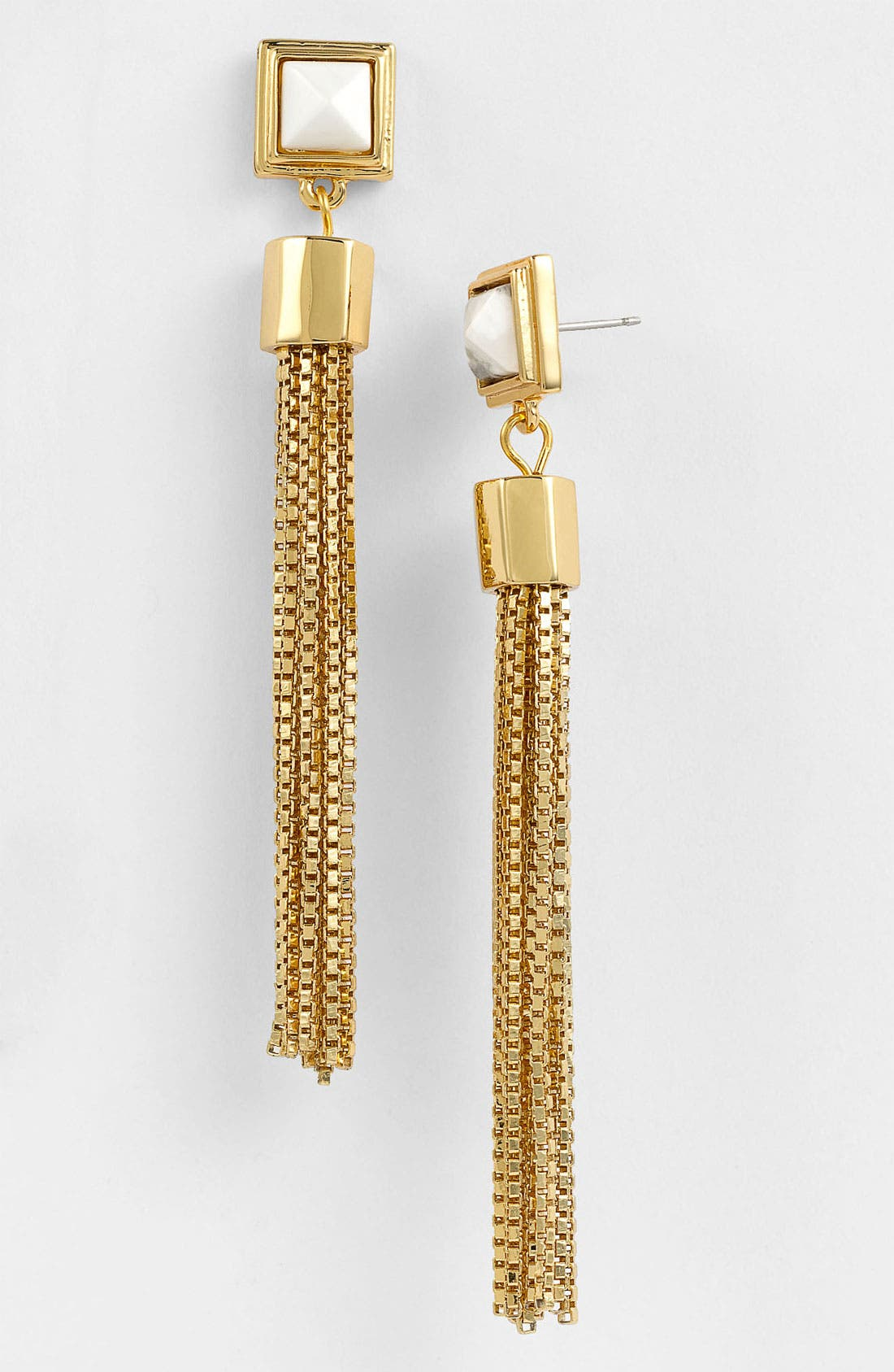 Alternate Image 1 Selected - Vince Camuto 'Pyramid Rocks' Tassel Earrings