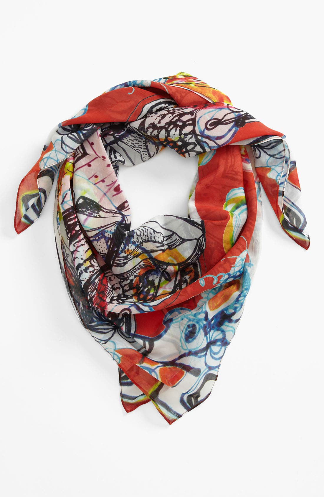 Main Image - Front Row Society 'Daria Sunset' Cotton & Silk Scarf