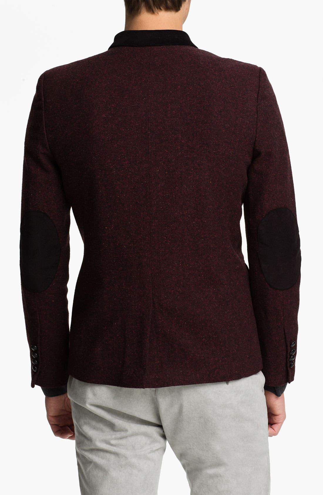 Alternate Image 2  - Topman Fleck Skinny Fit Blazer