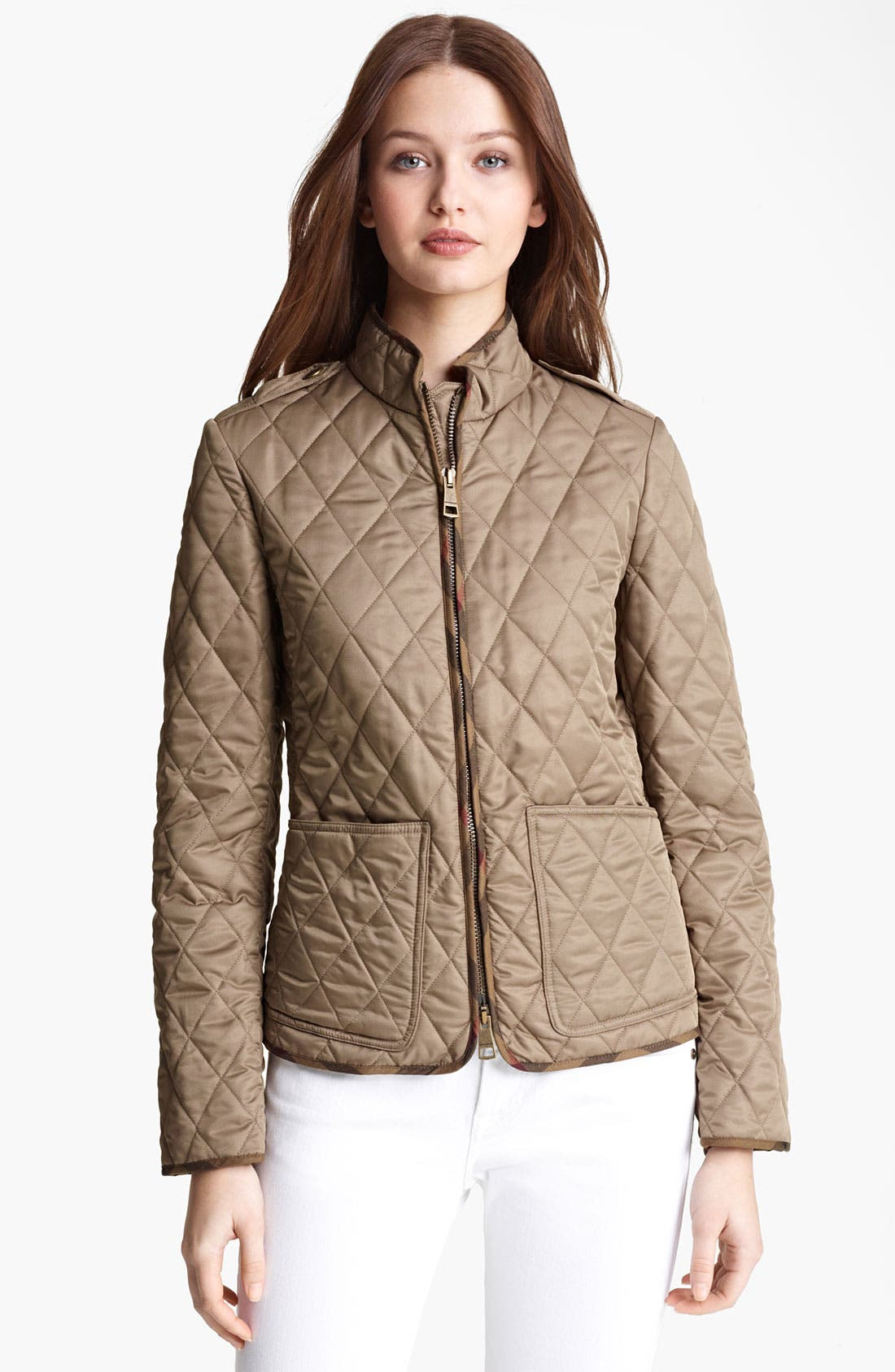 Alternate Image 1 Selected - Burberry Brit Zip Quilted Jacket