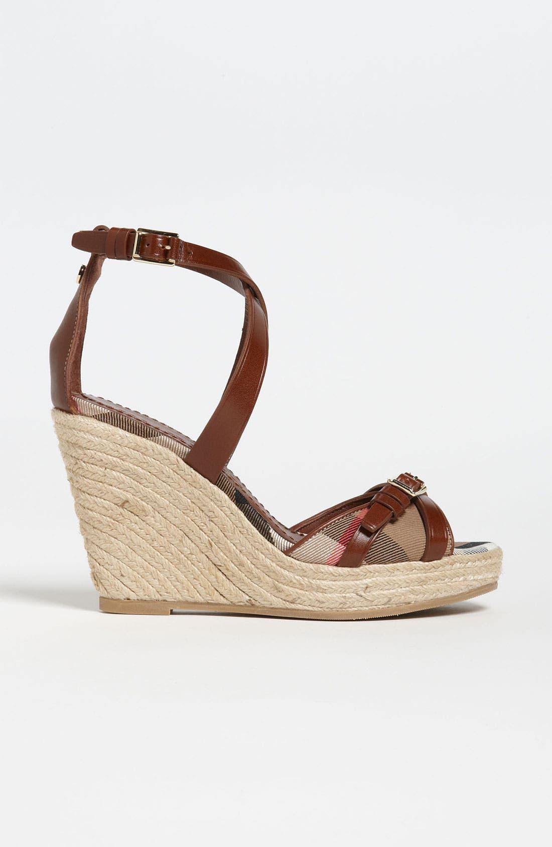 Alternate Image 4  - Burberry 'Walden' Wedge Sandal