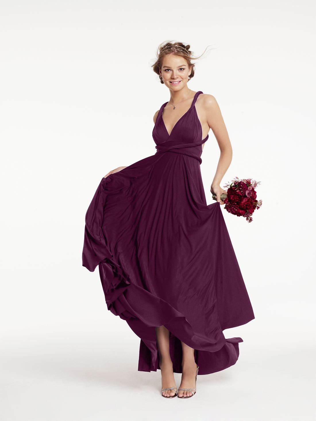 Alternate Image 5  - twobirds Convertible Jersey Gown (Regular & Plus)