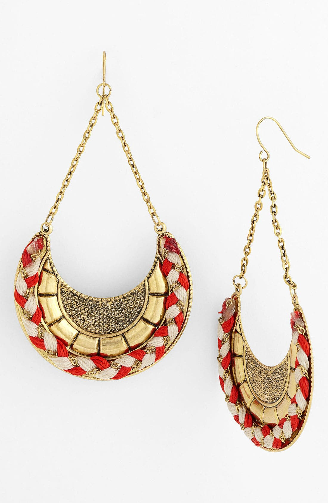 Main Image - Spring Street Woven Partial Disc Earrings (Nordstrom Exclusive)