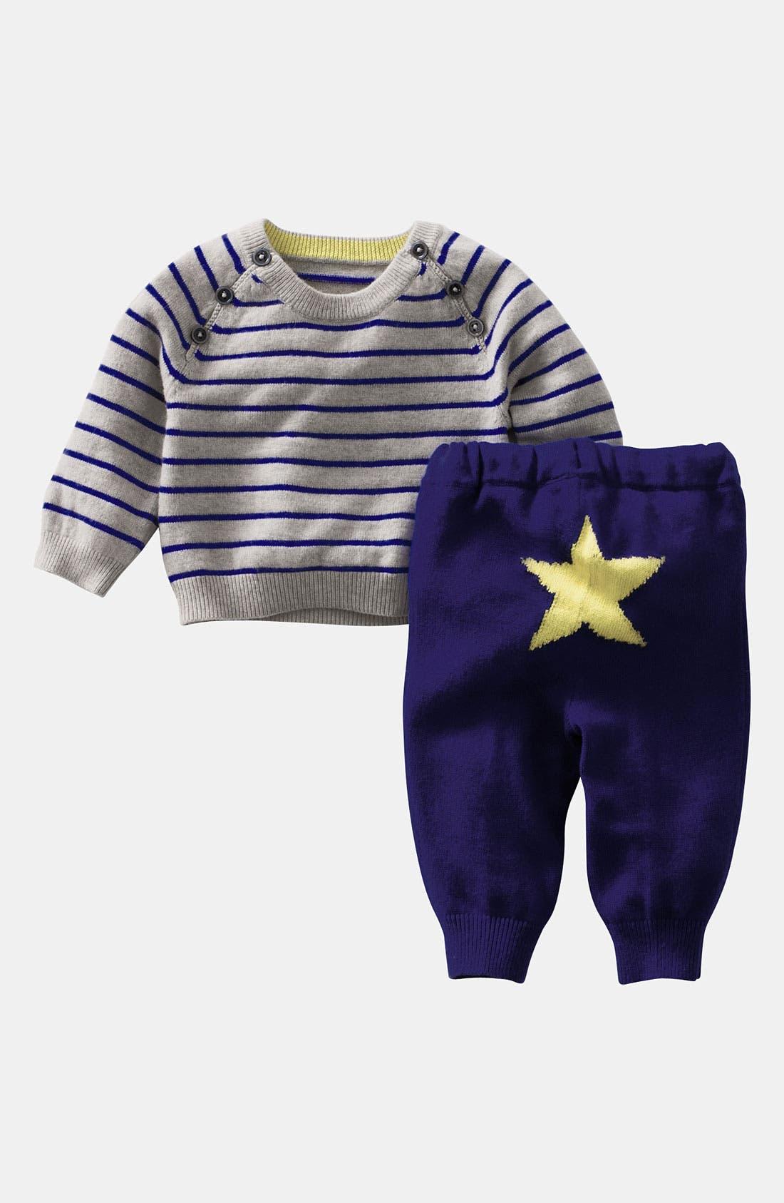 Alternate Image 1 Selected - Mini Boden Knit Sweater & Pants (Infants)