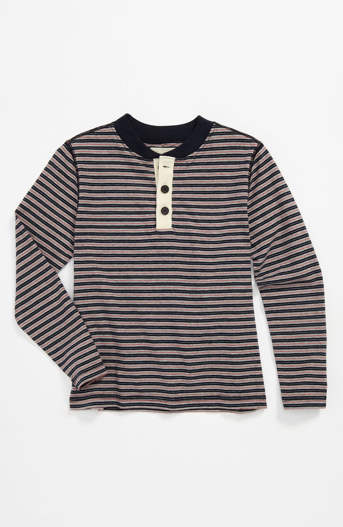 Alternate Image 1 Selected - Peek 'Rawley' Stripe Henley (Little Boys & Big Boys)