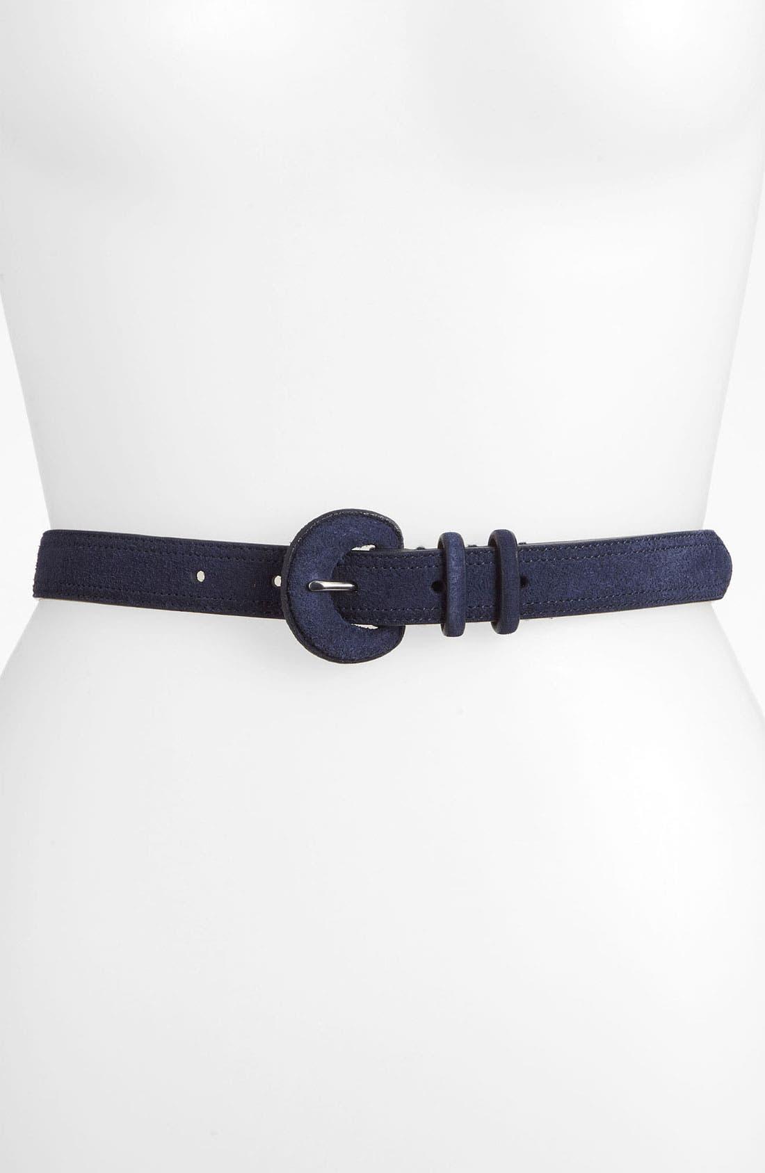 Alternate Image 1 Selected - Lauren Ralph Lauren Suede Belt