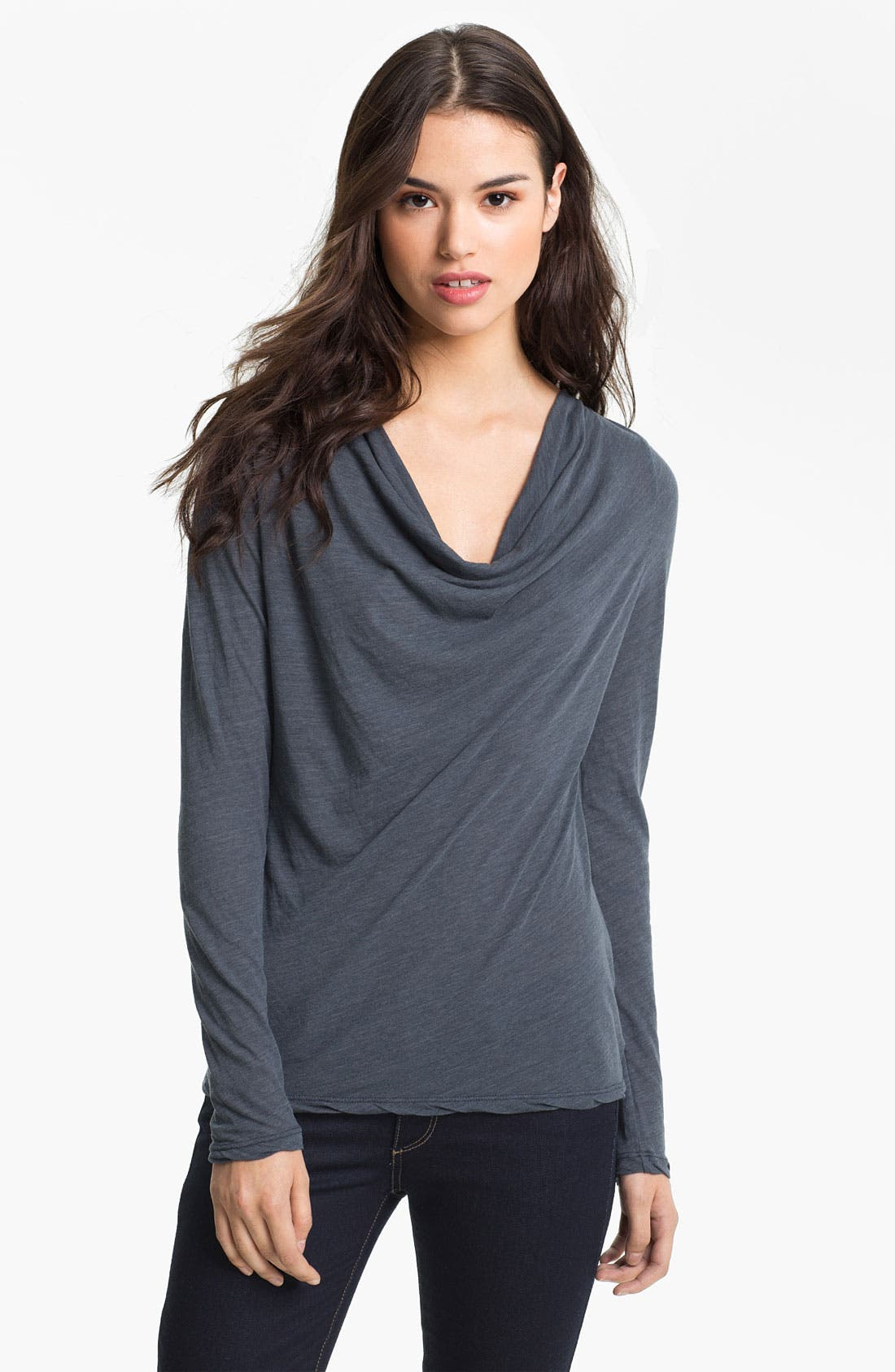 Alternate Image 1 Selected - James Perse Drape Neck Top
