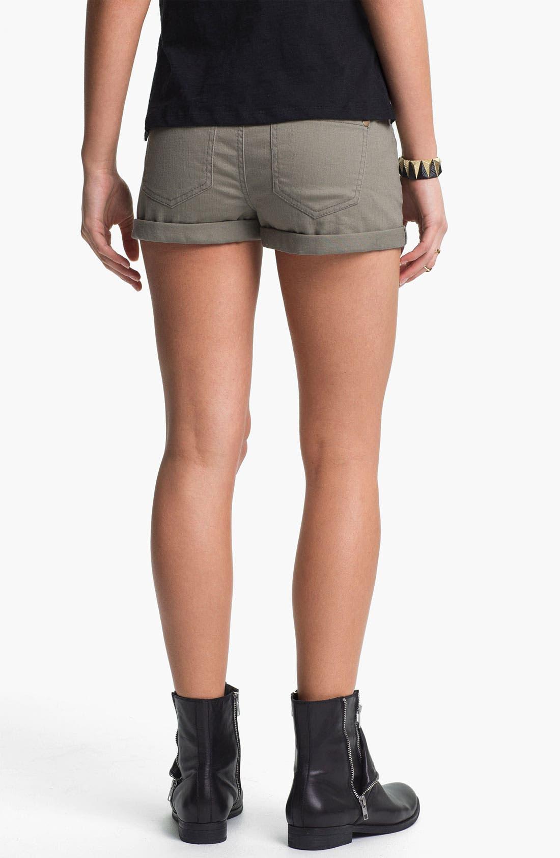 Alternate Image 3  - Fire High Waist Utility Shorts (Juniors)