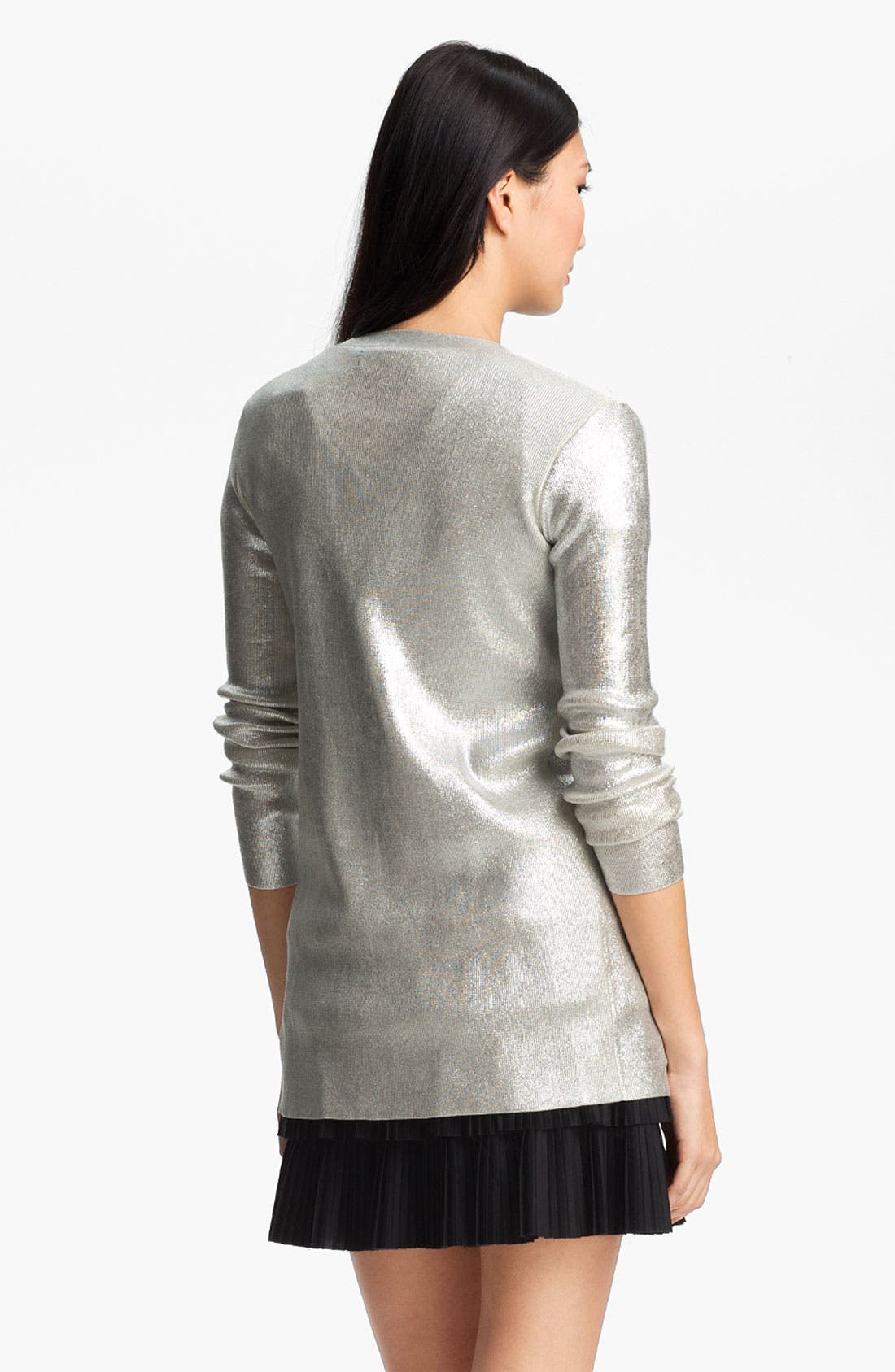 Alternate Image 3  - Robert Rodriguez Silver Laminated Cardigan