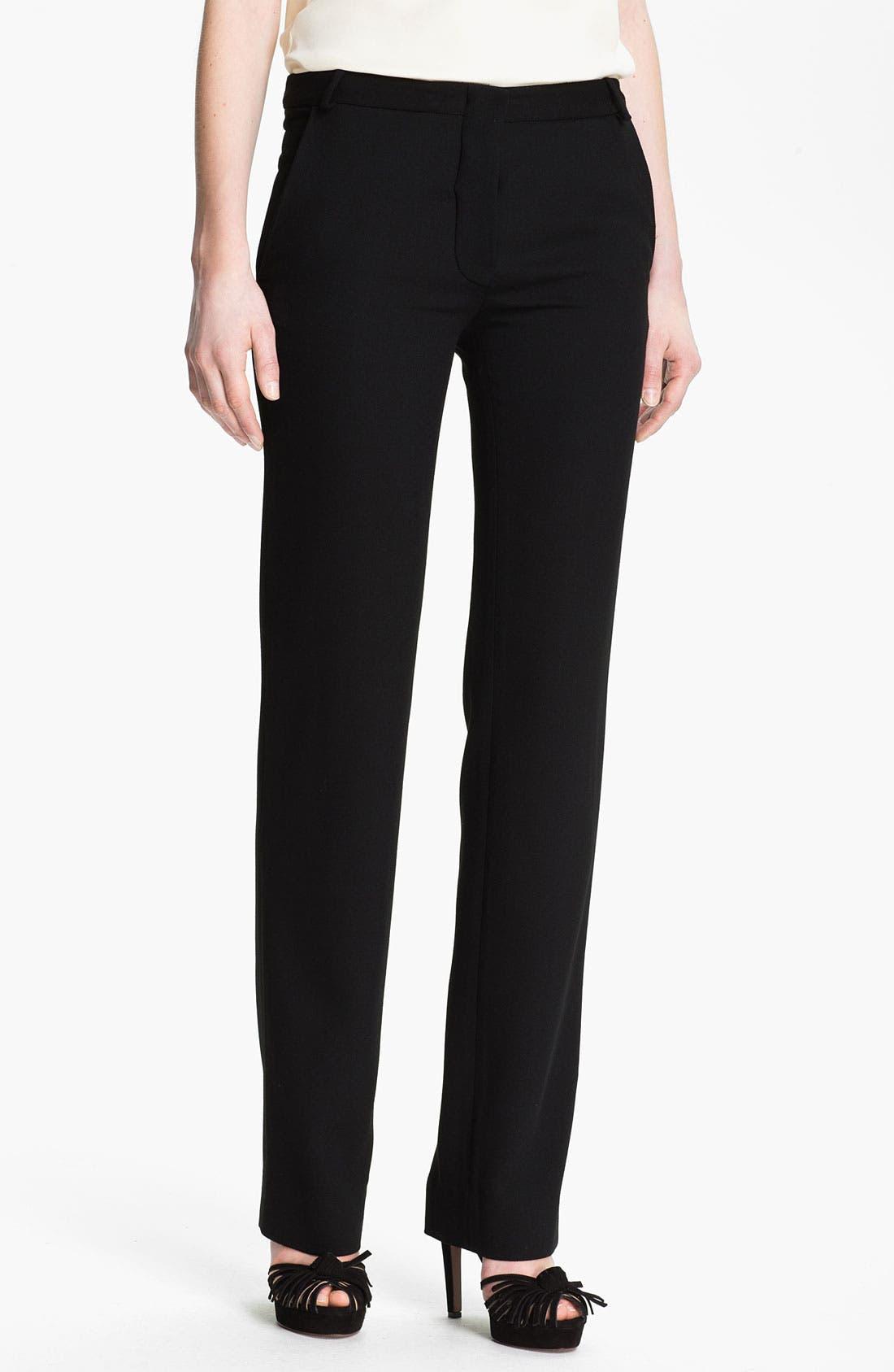 Main Image - Halston Heritage Straight Leg Wool Crepe Pants