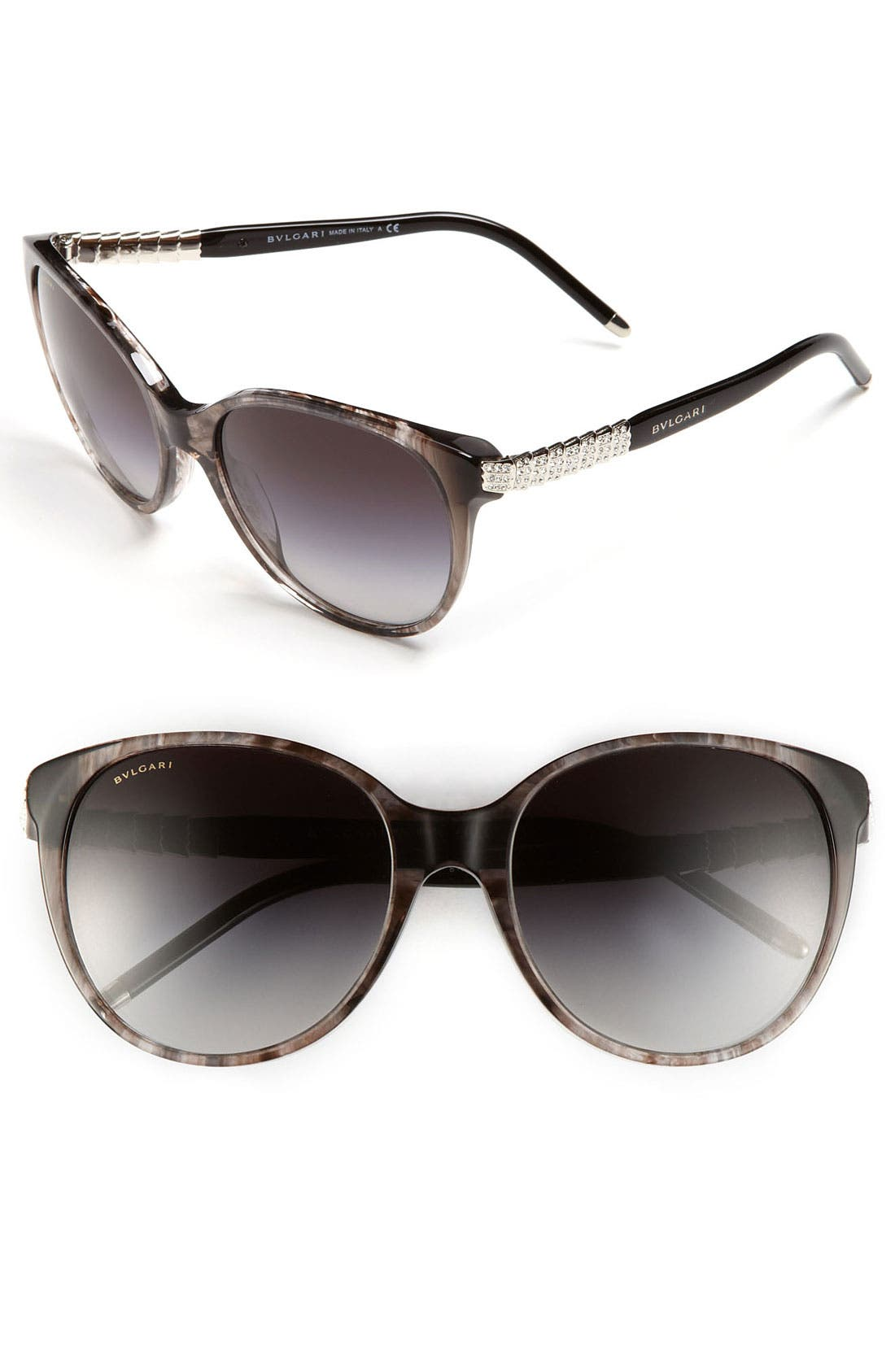 Alternate Image 1 Selected - BVLGARI 56mm Cat's Eye Sunglasses