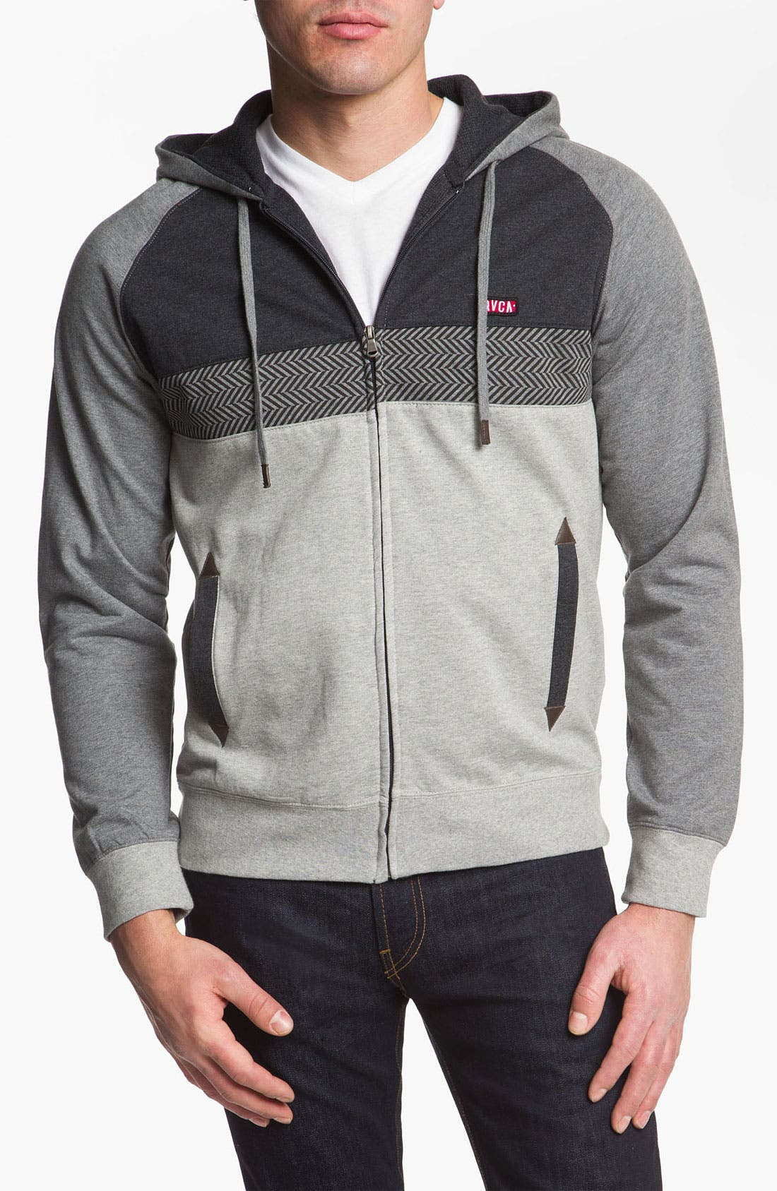 Alternate Image 1 Selected - RVCA 'Tripper' Zip Hoodie