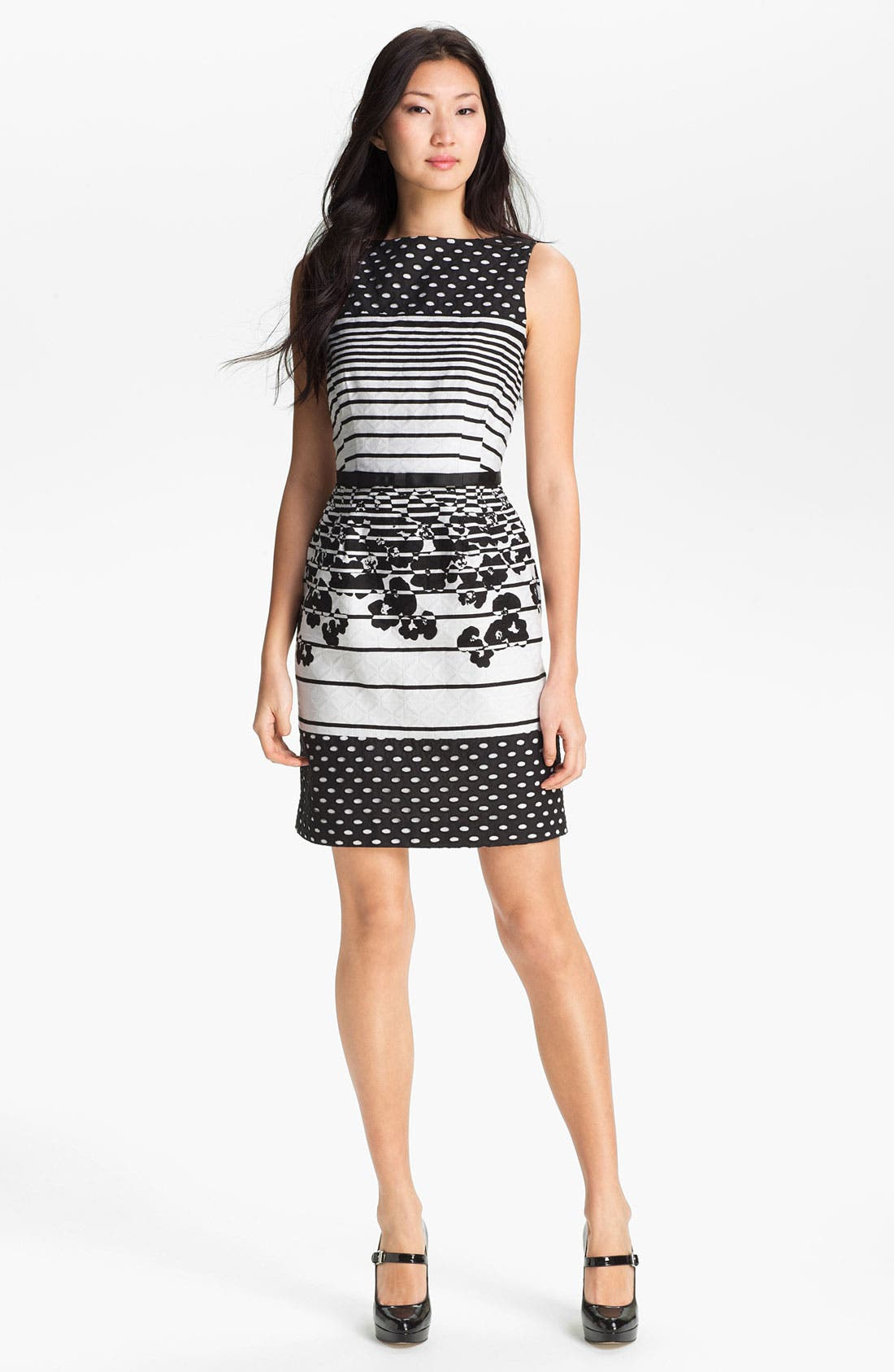 Main Image - Taylor Dresses Jacquard Print Sheath Dress