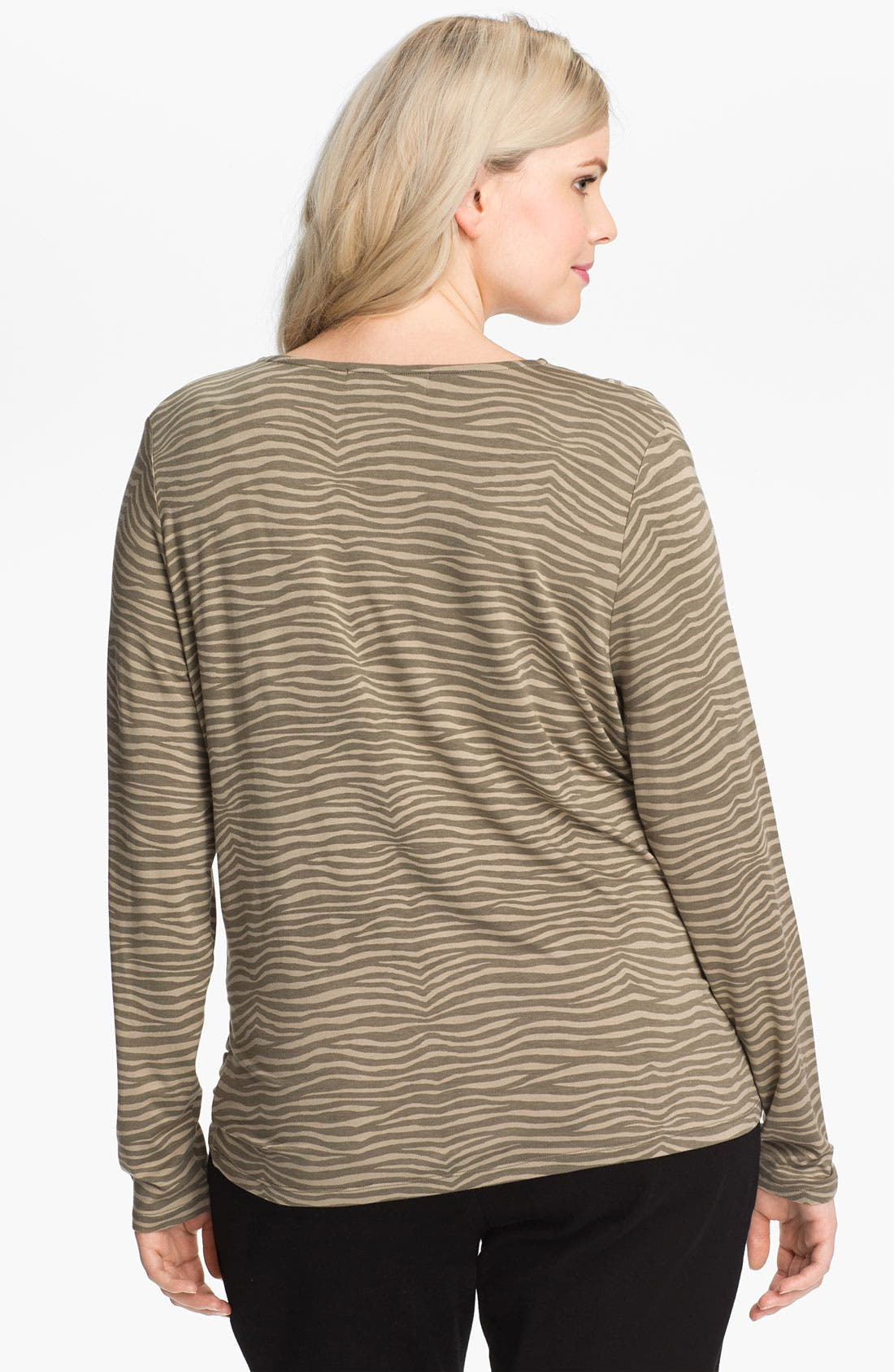 Alternate Image 2  - MICHAEL Michael Kors Print Cowl Neck Top (Plus)