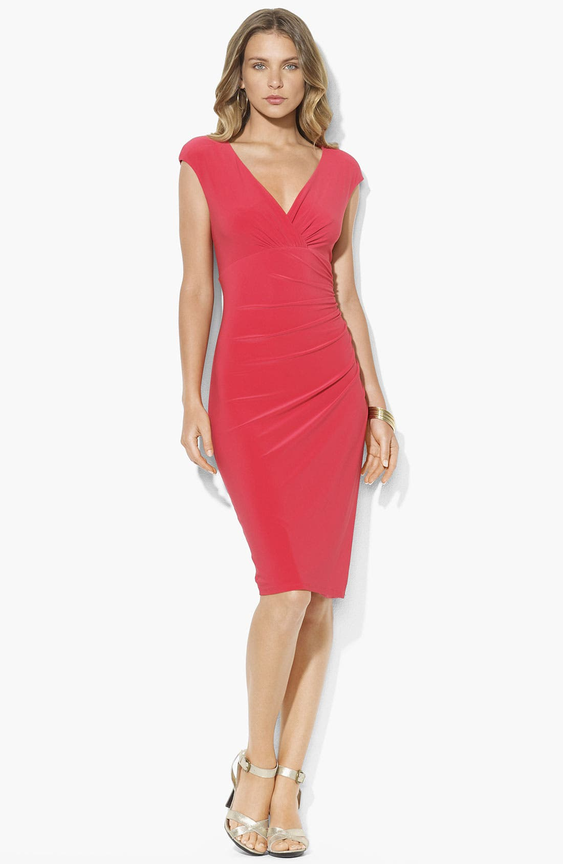 Main Image - Lauren Ralph Lauren Faux Wrap Jersey Dress