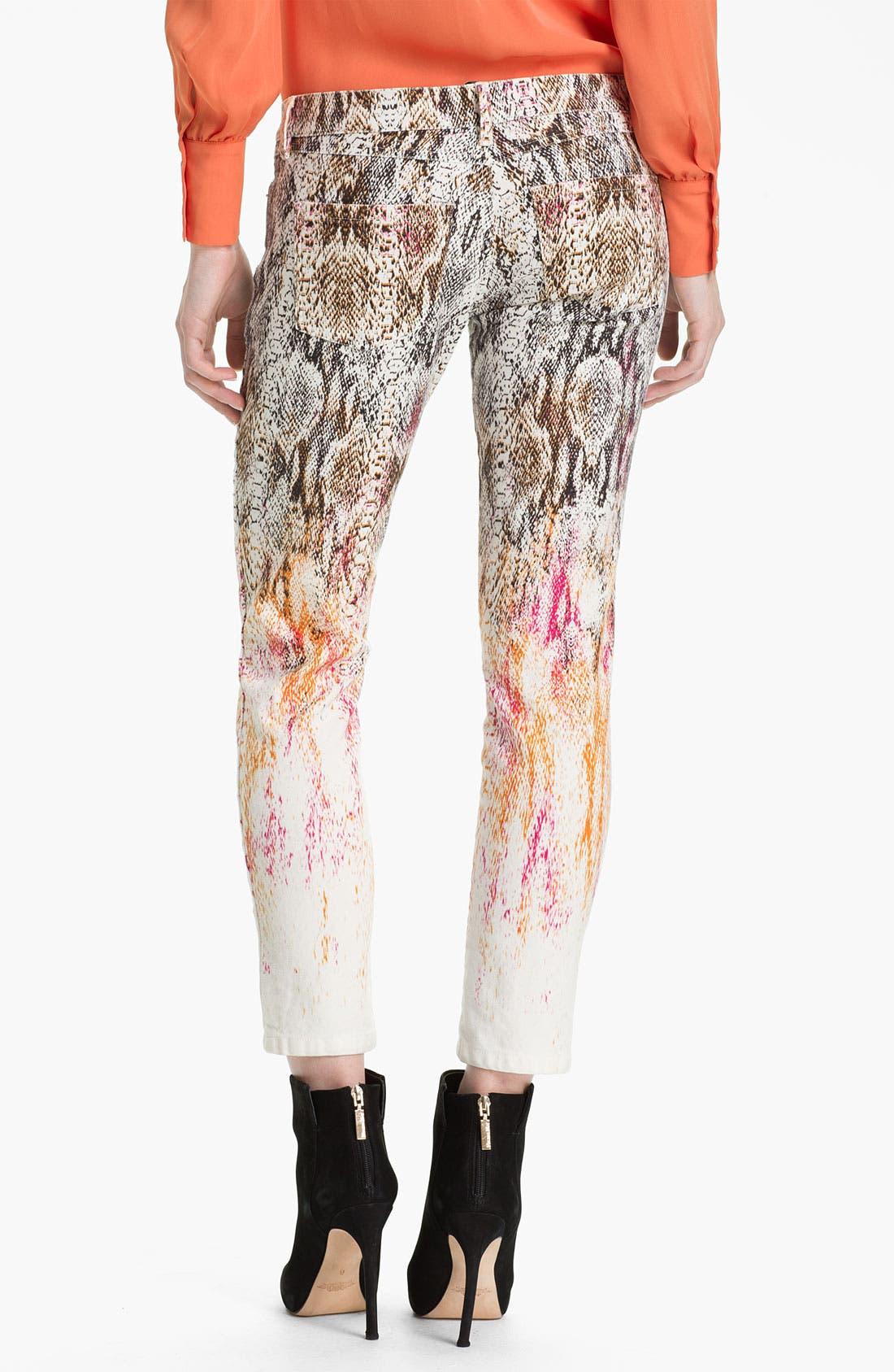Alternate Image 2  - Haute Hippie Ombré Snake Print Jeans