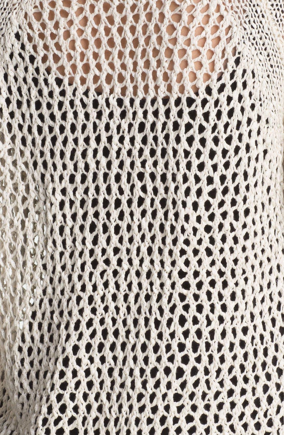 Alternate Image 3  - Kensie Open Stitch Sweater