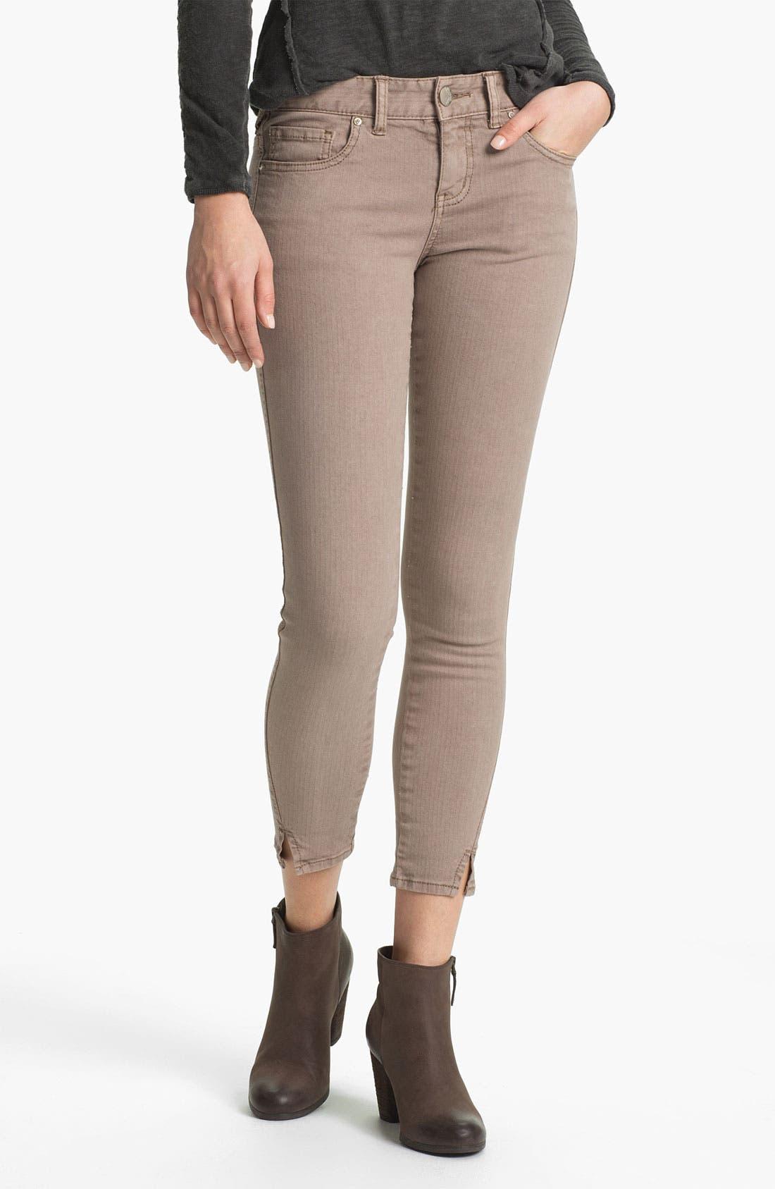 Alternate Image 1 Selected - Free People Crop Stretch Denim Skinny Jeans (Liza)
