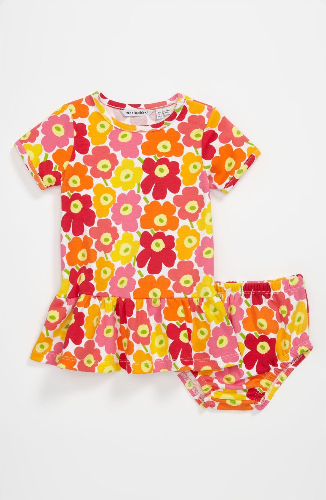 Alternate Image 1 Selected - Marimekko 'Unikko' Dress (Infant)