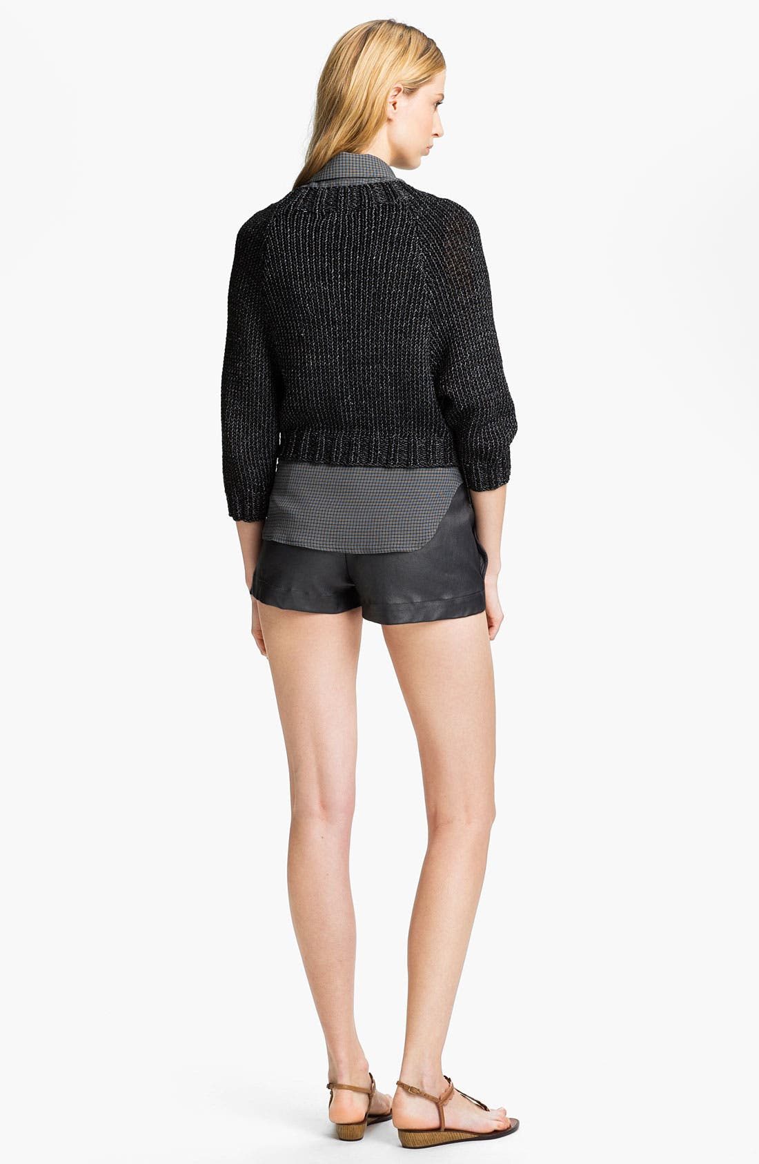 Alternate Image 4  - L'AGENCE Zip Front Crop Sweater