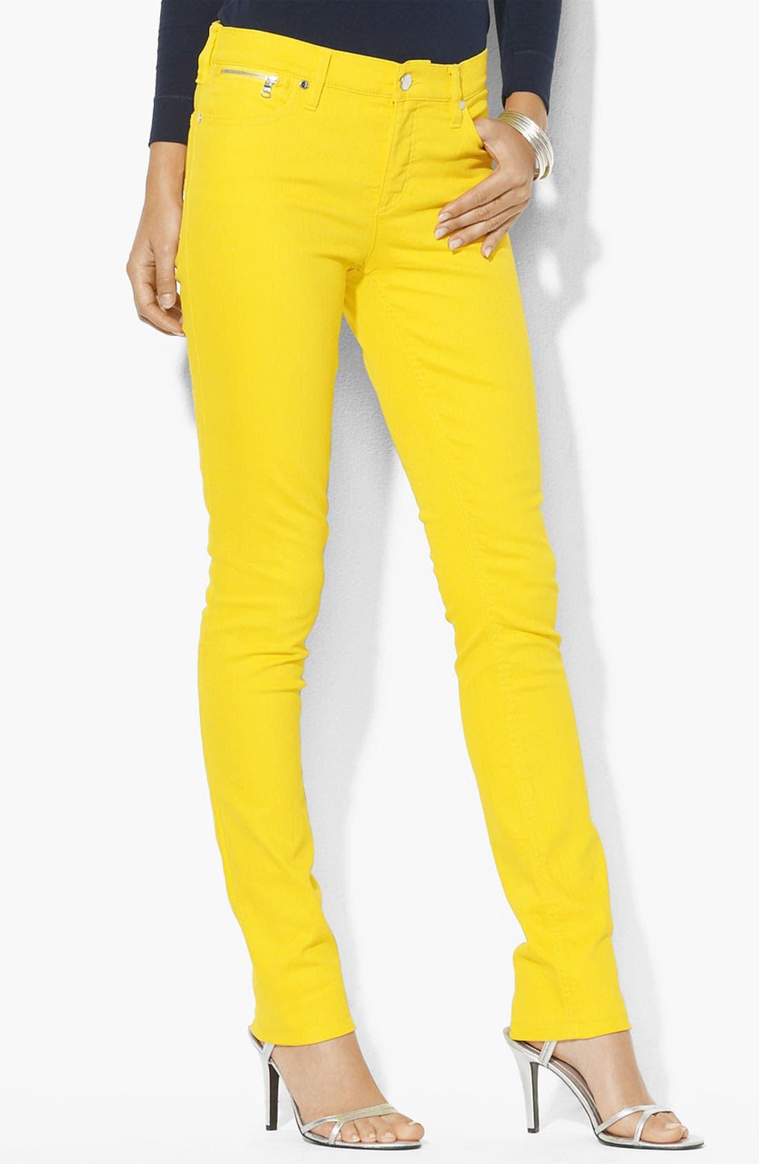 Main Image - Lauren Ralph Lauren Slim Straight Leg Pants