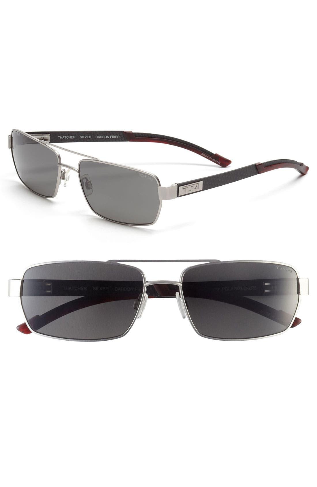 Alternate Image 1 Selected - Tumi 'Thatcher' 58mm Polarized Sunglasses