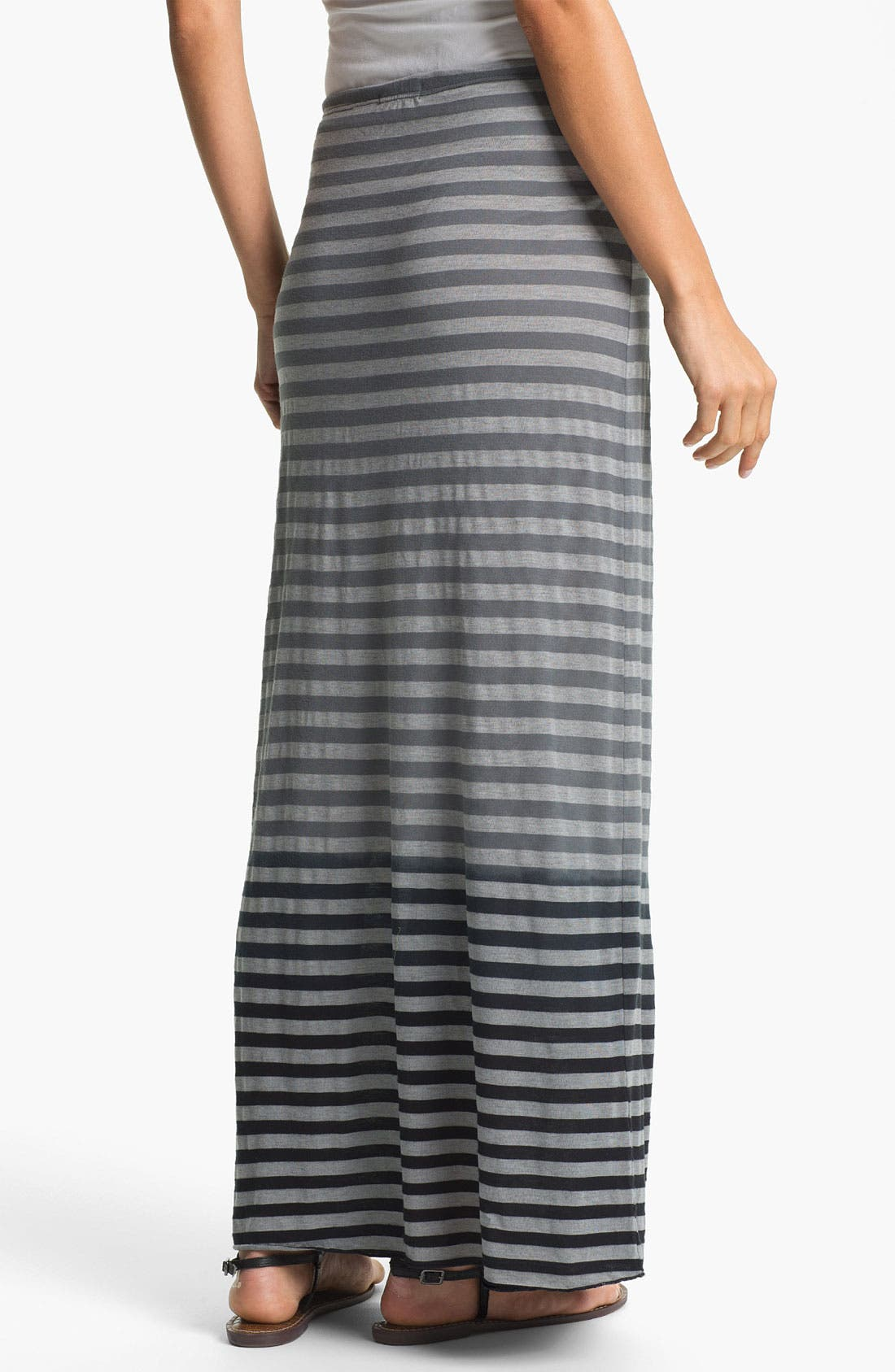 Alternate Image 2  - Allen Allen Ombré Stripe Maxi Skirt